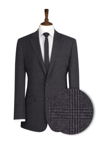 Grey-Check-Tweed