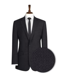 Charcoal-Grey-Herringbone-Tweed